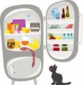 refrigerator with food