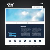 One Page Website Template with Blurred Header Background Design