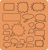 chat, speech, bubbles icons, illustrations, signs set, vector
