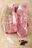 Lamb Shoulder Chops On Brown Paper