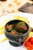 meat in the pot