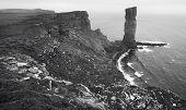 Scottish Landscape In Orkney. Old Man Of Hoy. Scotland