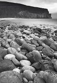 Scottish Landscape In Orkney. Hoy Pebble Beach. Scotland