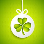 Irish lucky clover leaf for Happy St. Patrick's Day celebration.