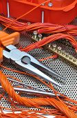 Pliers with electrical component kit