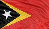 3D East Timor flag