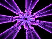 Glowing Colorful Mandala In Space