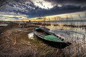 boat in the swamp