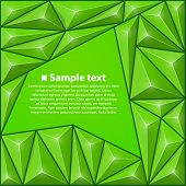 Vector background with triangles. Green