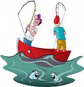 Entangled fishermen