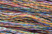 Bundles of colorful network cables