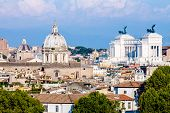 pic of altar  - view of Rome with the altar of the fatherland - JPG