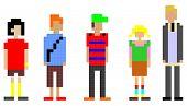 people pixel graphics