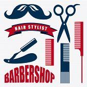 pic of barbershop  - Barbershop icons design  - JPG