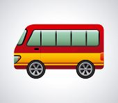 picture of motor-bus  - bus graphic design  - JPG