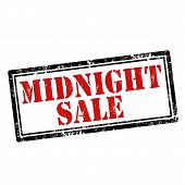 image of midnight  - Grunge rubber stamp with text Midnight Sale - JPG