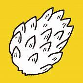 stock photo of custard  - Custard Apple Doodle - JPG