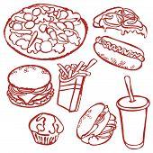 image of hamburger  - Fast food - JPG