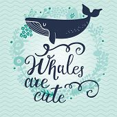 stock photo of whale-tail  - Whales are cute - JPG