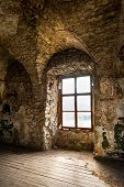 picture of abandoned house  - Old window of an abandoned house - JPG
