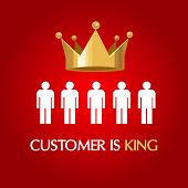 foto of king  - customer is king consumer user queen concept service excellent - JPG