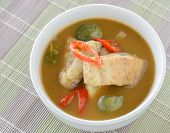 picture of thai cuisine  - Red fish spicy curry with eggplant Thai cuisine - JPG