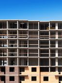stock photo of construction  - Construction of apartment house - JPG