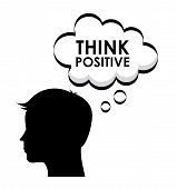 foto of positive thought  - think positive graphic design  - JPG