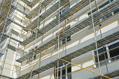 foto of scaffold  - repair home scaffolding building construction - JPG