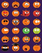 Jack-o-lantern Smiley Faces