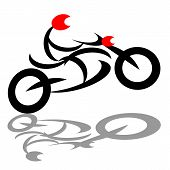 Abstract extreme biker