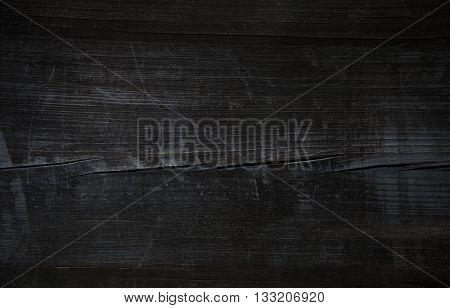 Wood.Old wood. Vintage wood. Old Black wooden table. Pirate black wooden table. Grunge black wood. B