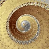 Spiral In Silver And Gold