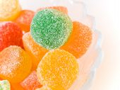 picture of jelly babies sugar  - fruit candy in sugar multi - JPG