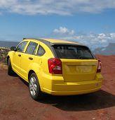 Bright Yellow Jeep