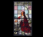 Photo Of Christ In Stained Glass  Window