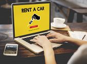 Car Rental Used Car Transportation Vehicle Concept poster