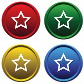 Plastic buttons with a stars
