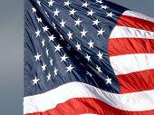 Us Flag Close-Up