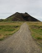 stock photo of scoria  - road to saxholl crater snaefellsnes peninsula iceland.