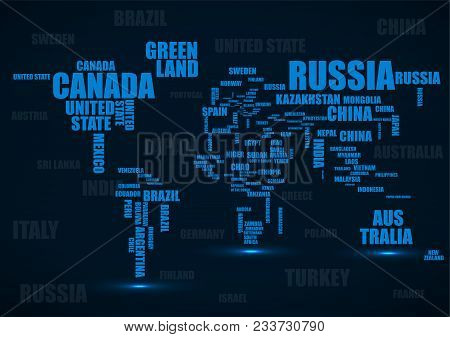 Typography colorful world map with country names vector poster id typography colorful world map with country names vector poster gumiabroncs Image collections