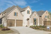 Brand New Two Story Residential House In Suburban Irving, Texas, Usa poster