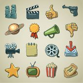 Freehands icons - movie
