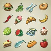 Freehands icons - food