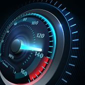 Futuristic Sports Car Speedometer. Abstract Speed Racing Vector Background. Speedometer And Speed Ca poster
