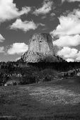 Devils Tower Black And White