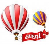 evento Festival de férias assinar com dois balões de ar quente