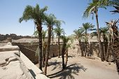 Remains Of A Sacred Lake At An Ancient Egyptian Temple