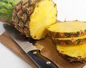 Stil Life Of Sliced Pineapple