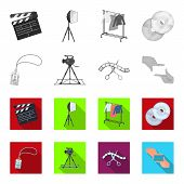 Badge, Operator Gesture And Other Accessories For The Movie. Making Movie Set Collection Icons In Mo poster